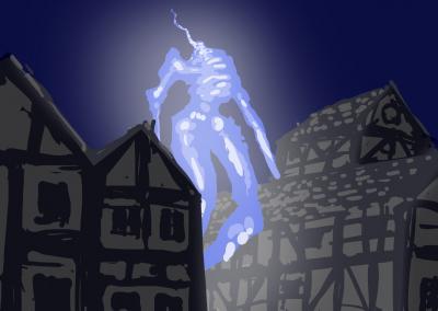 Geist im Dorf